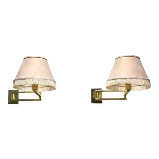 Pair of Brass Adjustable Sconces