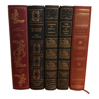 Decorative International Collector's Library Classic Books - Set of 5