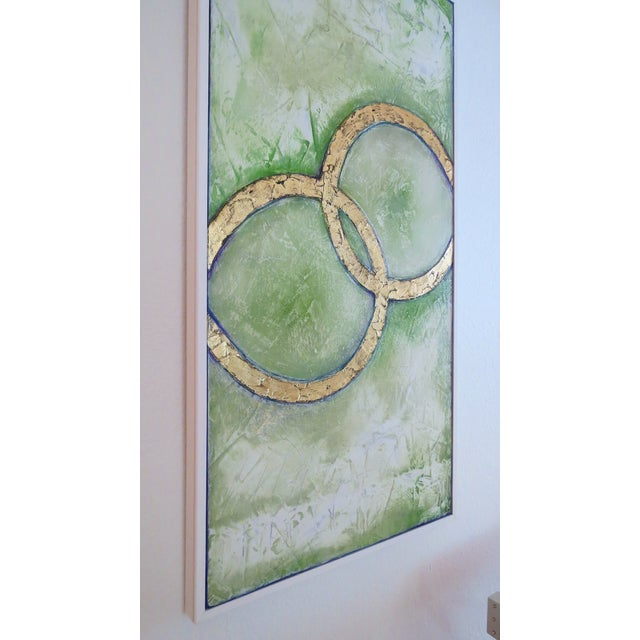 Image of Framed Infinity Series Mixed Media Painting