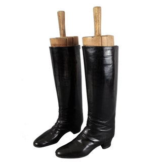 Equestrian Riding Boots with Trees - A Pair