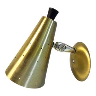Ejs Co. Mid-Century Modern Pierced Cone Single Wall Sconce