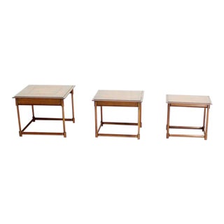 Set of Three Mid-Century Modern Nesting End Tables