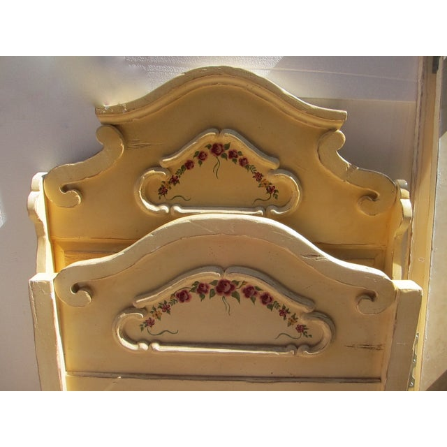 Antique Twin Cream Shabby Chic Wooden Bedframe - Image 10 of 11