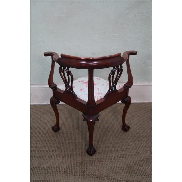 Southwood Chippendale Style Claw Foot Corner Chair - Image 4 of 10