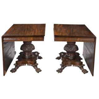 Classical Mahogany Pedestal Dining Room Table
