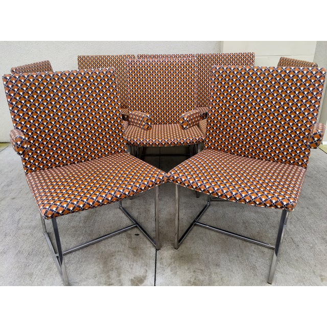 Milo Baughman ForThayer Coggin Chairs - Set of 8 - Image 8 of 11