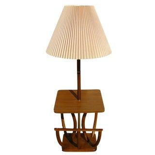 Mid-Century Faux Bamboo Floor Lamp
