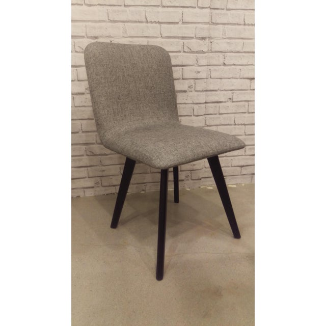 Image of Modern Charcoal & Black Dining Chair