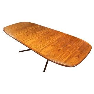 Oval Danish Teak Dining Table