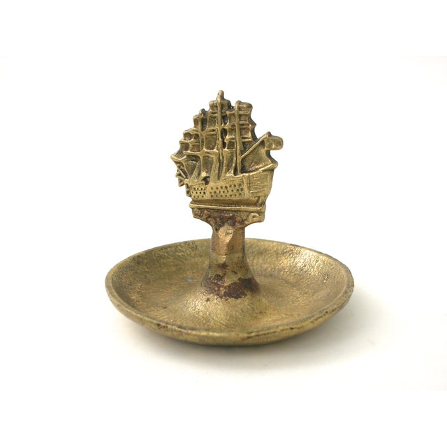 Brass Ship Dish - Image 2 of 9