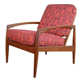 """Kai Kristiansen for Magnus Olesen Danish Teak """"Paperknife"""" Lounge Chair"""