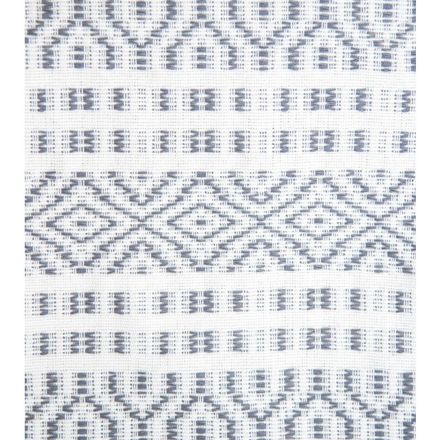 Slate Grey Handwoven Mexican Throw - Image 2 of 4