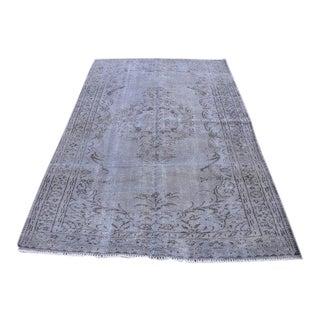 Gray Vintage Turkish Area Rug - 5′2″ × 8′2″