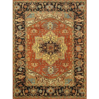 "Serapi Collection Wool Area Rug - 9"" x 12"""