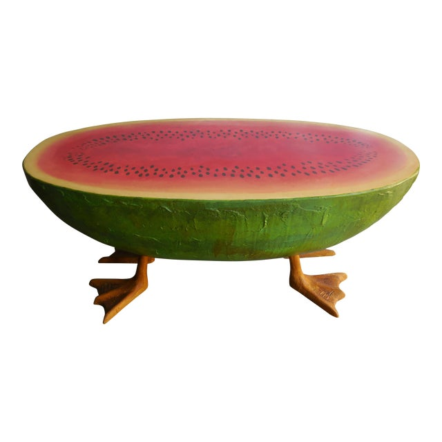 Mid-Century Fiberglass Watermelon Coffee Table - Image 1 of 7