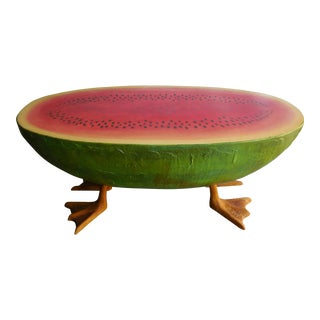 Mid-Century Fiberglass Watermelon Coffee Table