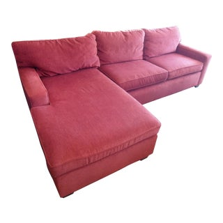 Mitchell Gold + Bob Williams Red Fabric Sectional Sofa