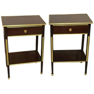 Pair of One Drawer Russian Style Bronze-Mounted Tables