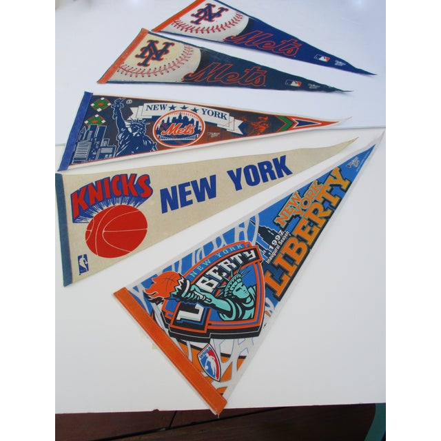 New York City Mets Knicks Pennants - Set of 5 - Image 2 of 10