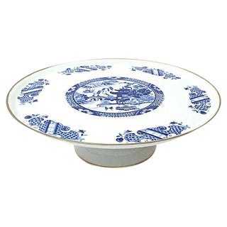 Chinoiserie Limoges Porcelain Cake Plate
