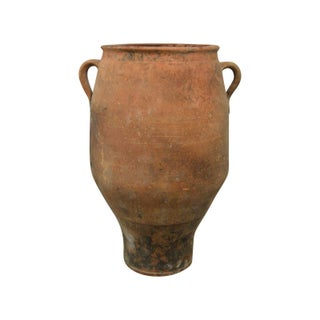 Antique Greek Pithos Terracotta Pottery Vessel