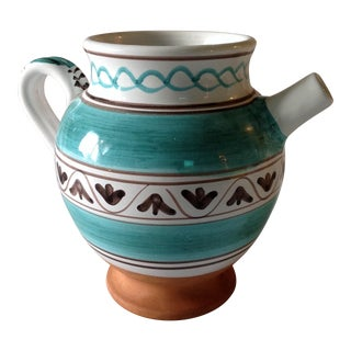 Vintage Hand Painted Italian Pitcher