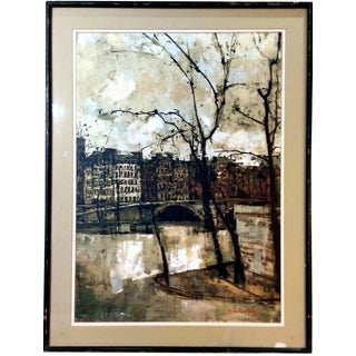 "Michel de Gallard ""Le Pont Louis-Philippe"" Lithograph"