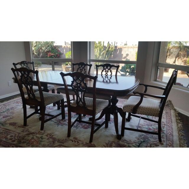 Antique bernhardt dining set chairish