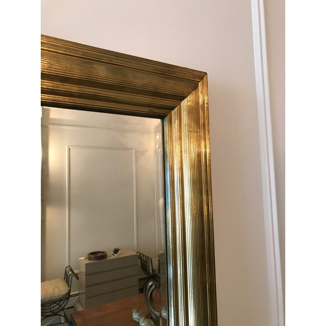 Image of Brass Wrapped Bistro Mirror