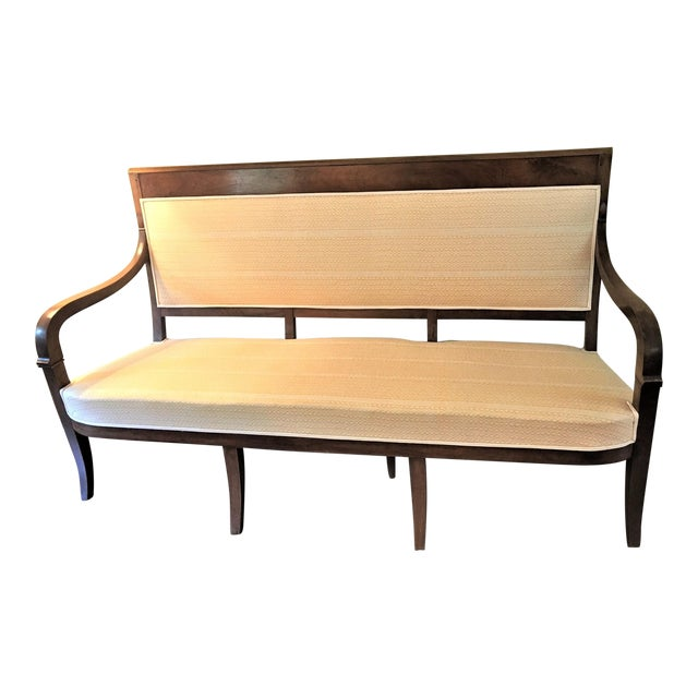 French Fortuny Upholstered Bench - Image 1 of 9