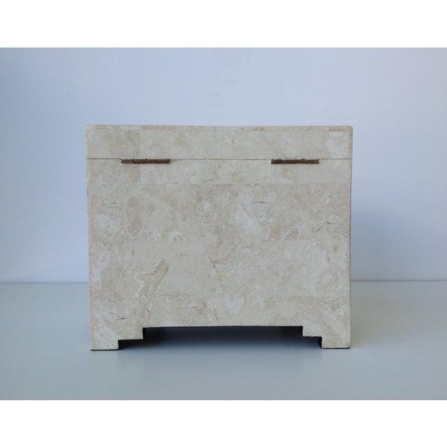 Maitland-Smith Vintage 1970s Tessellated Stone Box - Image 6 of 11