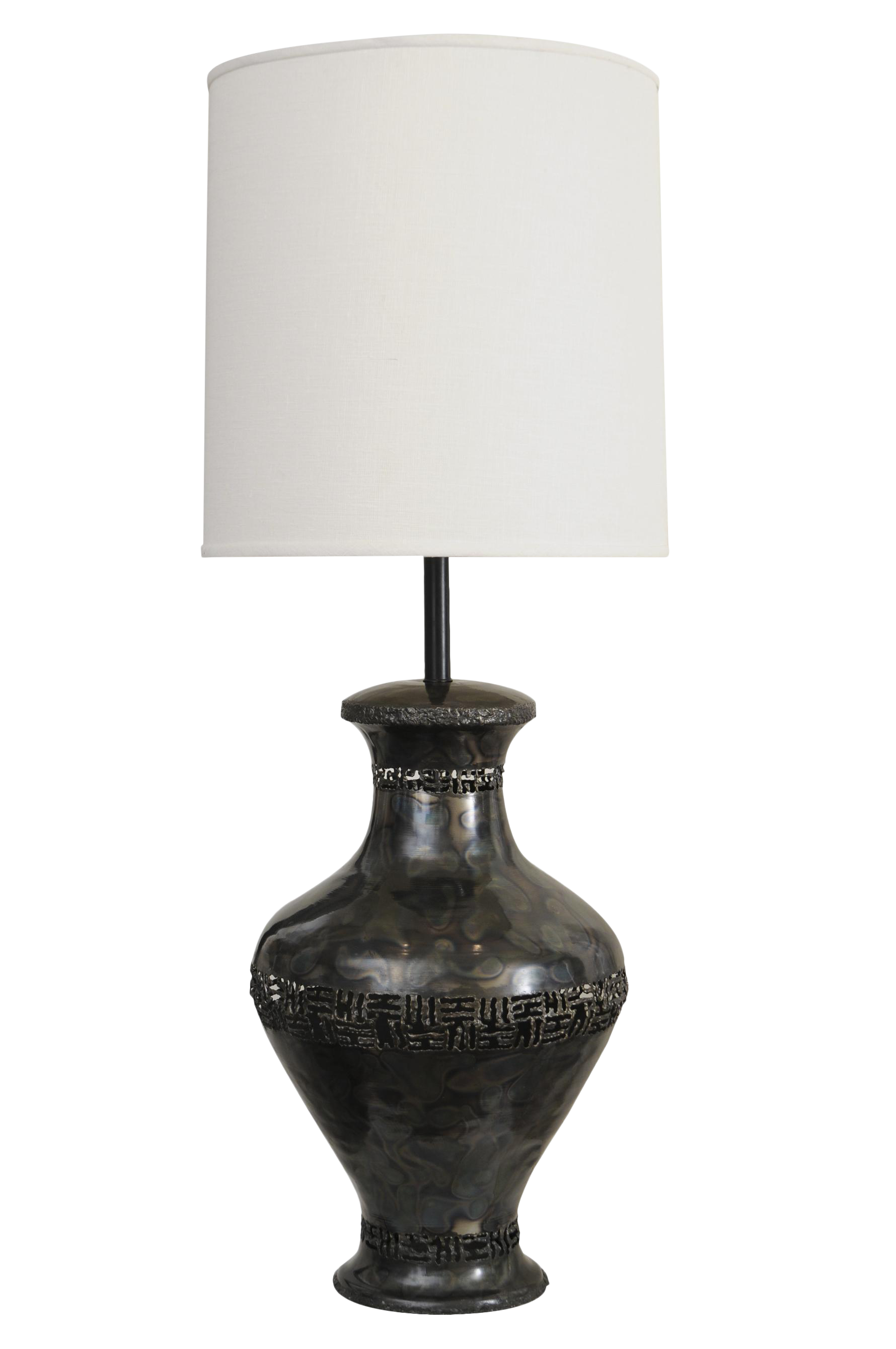 Mid Century Italian Signed Marcello Fantoni Sculptural Brutalist Table Lamp