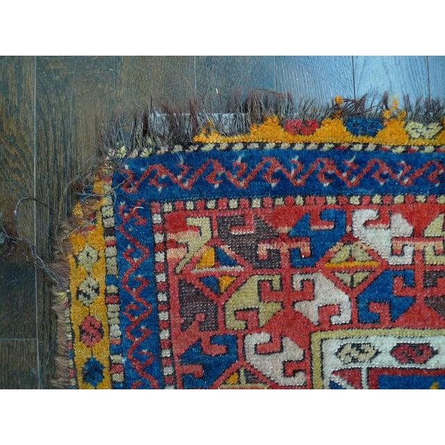"Early 20th Century Kazak Runner Rug - 4' x 13'10"" - Image 9 of 10"