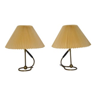 Kaare Klint Designed Table Lamps for Le Klint of Denmark - A Pair