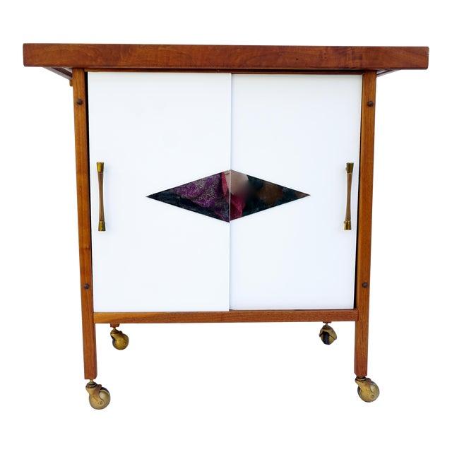 Mid-Century Danish Modern Teak Bar Cart - Image 1 of 11