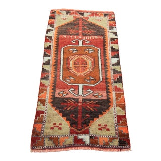Vintage Turkish Oushak Tribal Hand Knotted Rug- 1'9 x 3'7