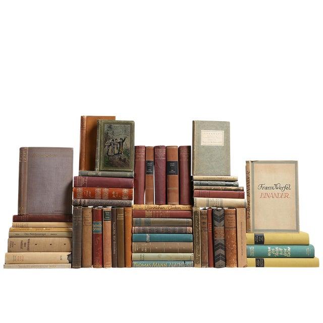 Vintage Earthtone German Books - Set of 50 - Image 1 of 2