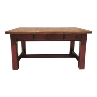 Red Bottom Finish Coffee Table