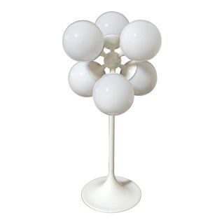 White Globe Table Lamp by Lightolier