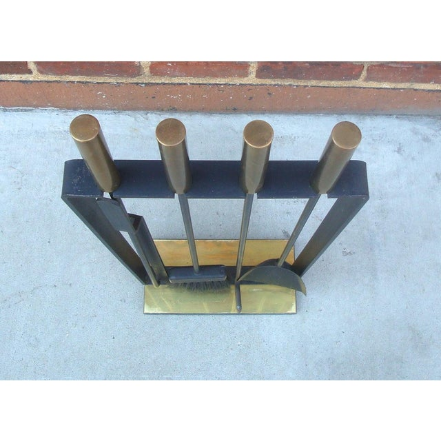 Modernist Fireplace Tool Set & Stand - Set of 5 - Image 4 of 7
