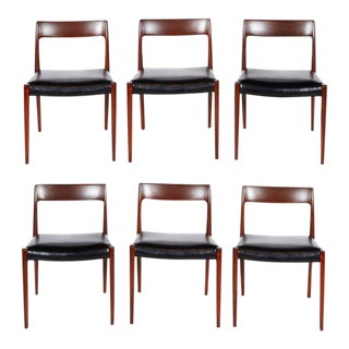 Vintage 1960s Danish Rosewood Dining Chairs by Niels Moller