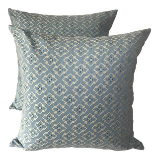 Brunschwig Fils Chinoiserie Blue Pillow Covers - A Pair