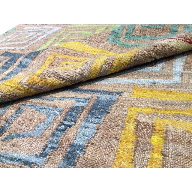 Pasargad's Hemp & Sari Silk Sumak Kilim - 5' x 8' - Image 4 of 4