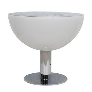 Italian Molded Plastic & Chrome Lighted Table
