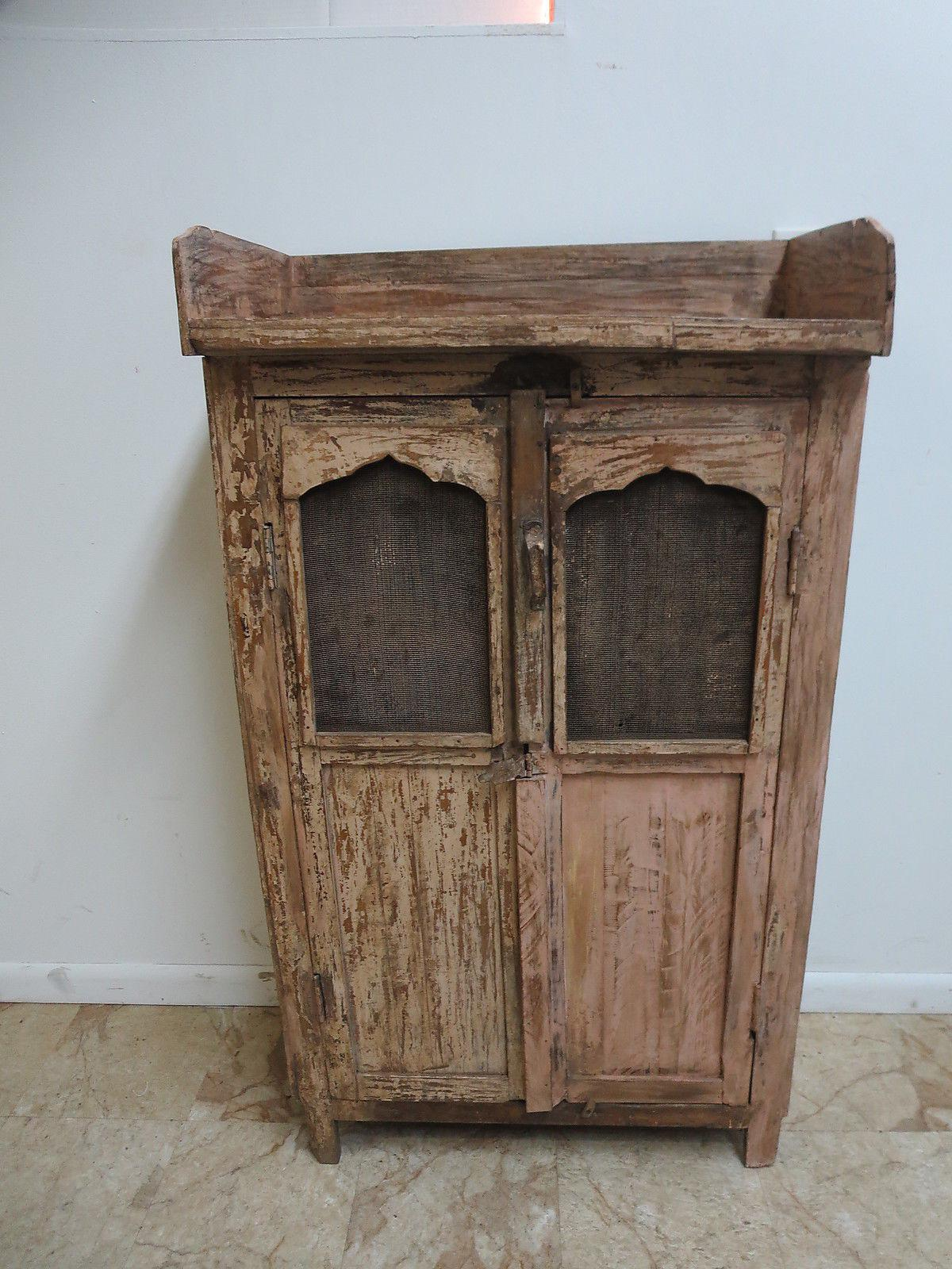 Antique Primitive China Cabinet Cupboard   Image 2 Of 7