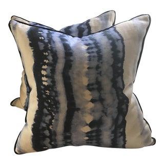 Designer Linen Pillows - A Pair
