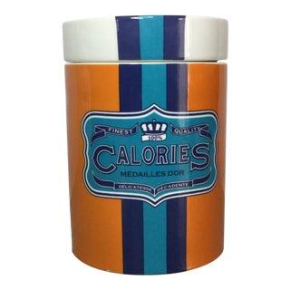 Jonathan Adler 'Calories' Ceramic Canister