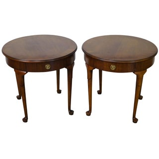 Wellington Hall Round Side Tables - A Pair