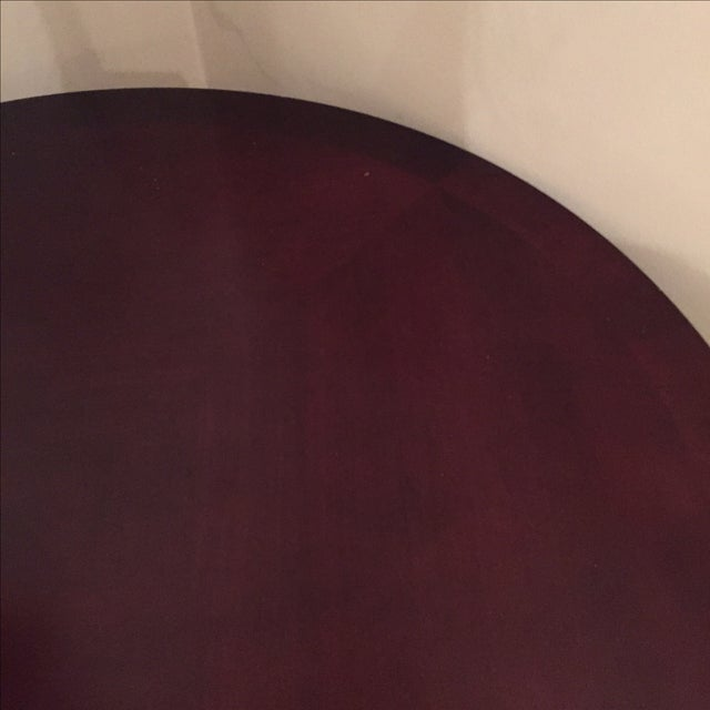 Cherry Wood Round Console Table - Image 3 of 5
