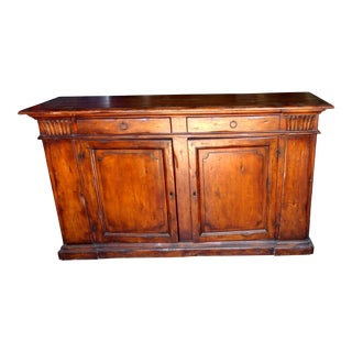Antique Oak Cabinet With Drawers